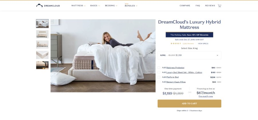 DreamCloud's Luxery Hybrid Mattress