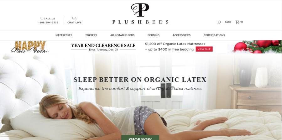 PlushBeds Mattress sleep better on organic Latex