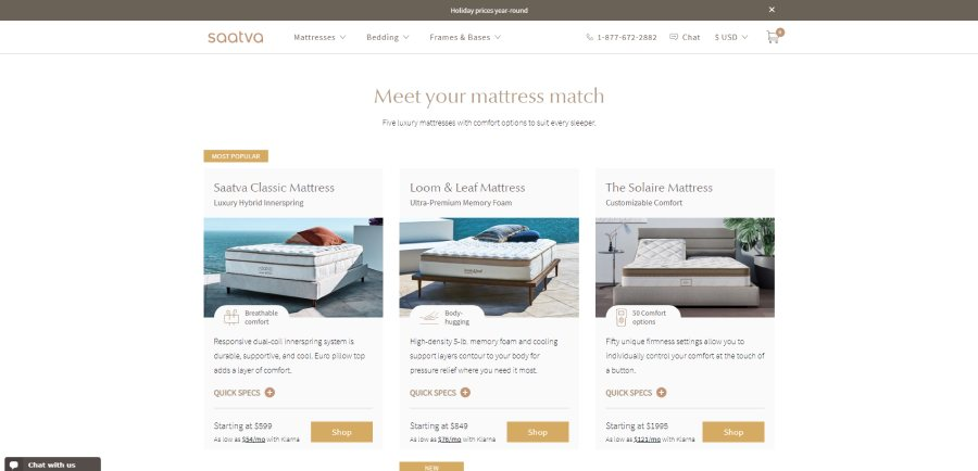 Saatva Mattresses -meet you mattress match