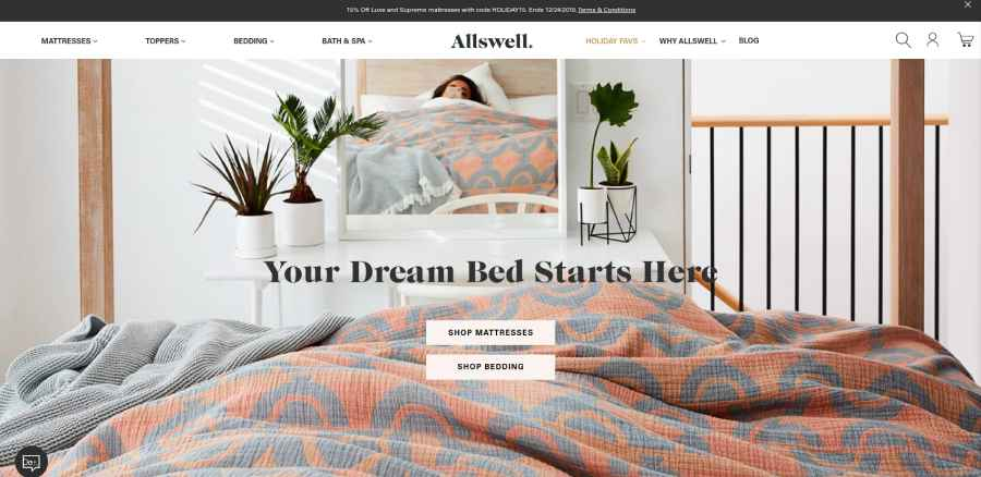 Allswell Mattress - your dream bed starts here