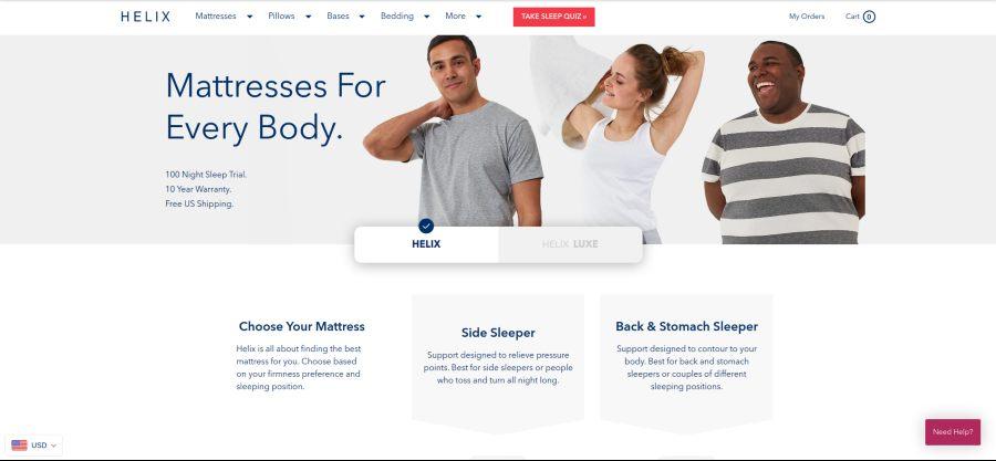 Helix Mattress - mattresses for every body