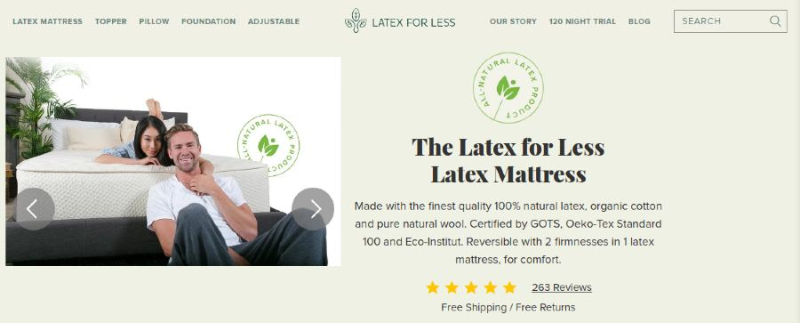 The Latex for less Latex Mattress