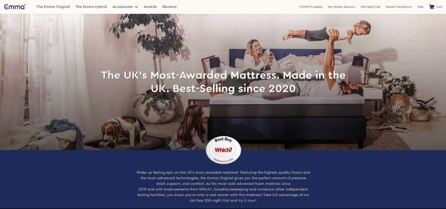 Emma Mattresses - the uk's most awarded mattress