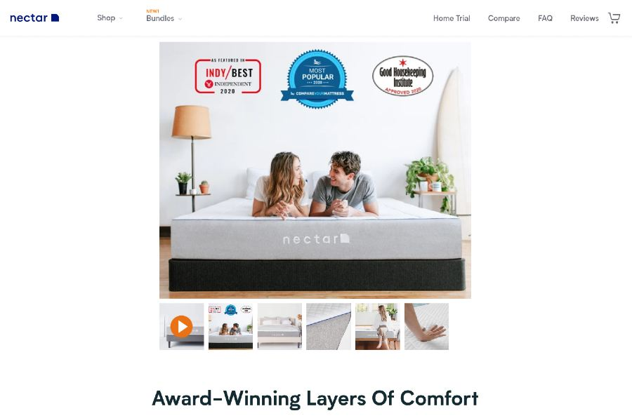 Nectar Mattresses - Award winning layers of comfort