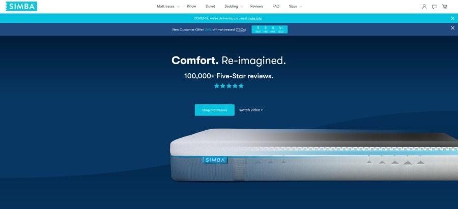 Simba mattresses - over 100000 five stars reviews
